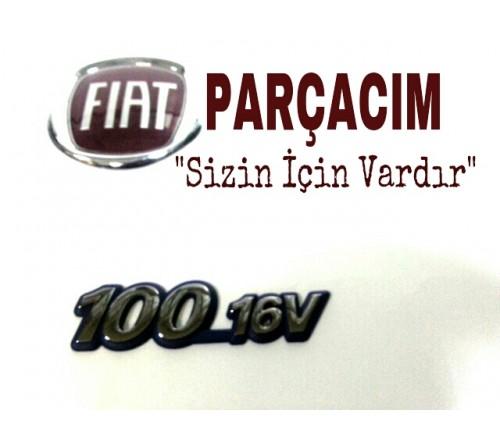 100 _ 16 V YAZISI , ON CAMURLUK UZERI MONTE , FIAT MAREA , FIAT BRAVA , FIAT BRAVO , ORJINAL FIAT YEDEK PARCA , 46532505