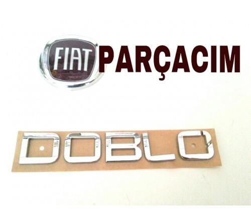 DOBLO ,  YAZISI , FIAT DOBLO , 2010 MODEL VE SONRASI , BAGAJ KAPAGINA MONTE ,  ORJINAL FIAT YEDEK PARCA , 52052874