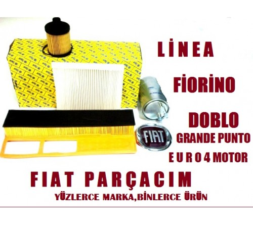 FILTRE BAKIM KITI 1.3 MJET ( YAG , YAKIT , POLEN , HAVA ) , FIAT LINEA , ORJINAL FIAT YEDEK PARCA